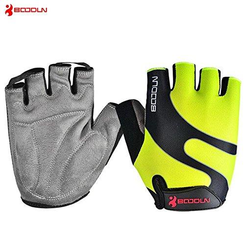 CHSUKHO Gants de sport semi-doigts pour hommes et femmes, gants de fitness, écran solaire respirant anti-dérapant