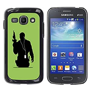 LECELL -- Funda protectora / Cubierta / Piel For Samsung Galaxy Ace 3 GT-S7270 GT-S7275 GT-S7272 -- Music Soldier --