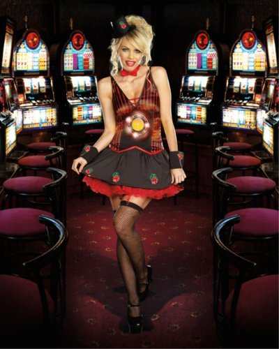 [Lucky You! (As Shown;Small)] (Lucky Lady Casino Costume)
