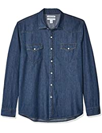 Men's Regular-fit Long-Sleeve Denim Shirt