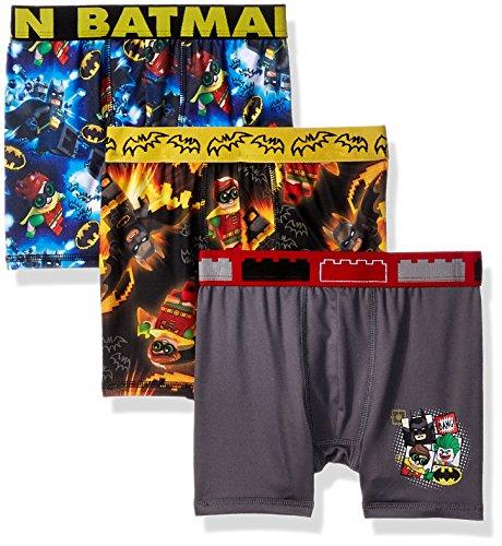 LEGO Boys' Big 3-Pack Athletic Boxer Brief Underwear, Legion Batman/Multi, 8 ()