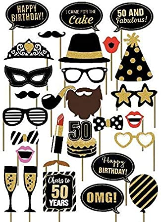 Amazon.com: SWYOUN - Máscaras de fiesta de cumpleaños de 29 ...