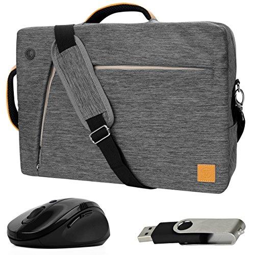 VanGoddy Gray Slate 3-in-1 Hybrid Laptop Bag for Lenovo Flex / ThinkPad / IdeaPad / Yoga 14