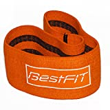 BestFit Heavy Cotton Exercise Hip Band With Inside Strips, Premium Quality Hip Resistance Circle, Durable Material, Home and Gym Workout (S/M Grippy HIP BAND) For Sale