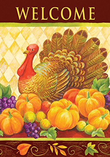 Toland Home Garden Turkey Harlequin 28 x 40-Inch Decorative USA-Produced House Flag
