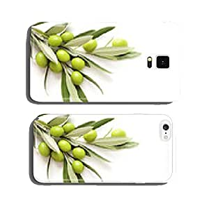 green olives on white background. copy space cell phone cover case iPhone5
