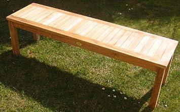 Linder banc de jardin en teck grade a banc 200 cm: Amazon.fr: Jardin