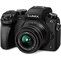 Panasonic LUMIX DMC-G7KK DSLM Mirrorless 4K Camera kit with 14-42 mm Lens and 32GB memory card(Black)
