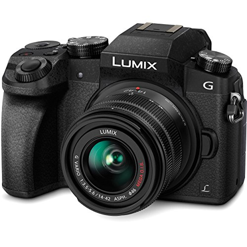 Panasonic LUMIX DMC-G7KK DSLM Mirrorless 4K Camera, 14-42 mm Lens Kit (Black) Bundle
