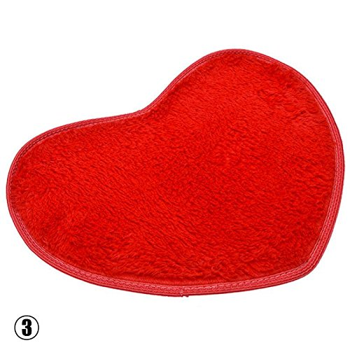 Niome Cute Heart Mat Soft Absorbent Bath Bathroom Floor Shower Rug Coffee
