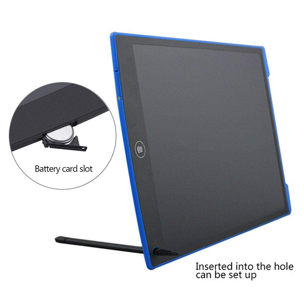 Teepao LCD Writing Tablet 8.5'' Electronic Handwriting Drawing Board with Pen Ultra Thin Lightweight Writing Doodle Pad Portable for Kids Children School Adults Office (12'', Blue) by Teepao (Image #5)