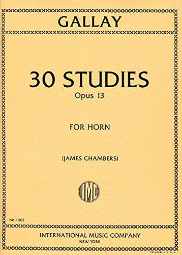 Read Online GALLAY - Estudios (30) Op.13 para Trompa (Chambers) pdf