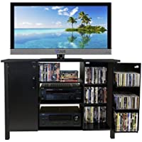 Venture Horizon Multi Media A/V Cabinet- Black