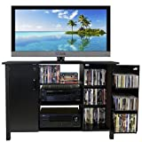 Venture Horizon Multi Media A/V Cabinet- Black