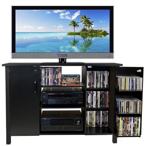 (Venture Horizon Multi Media A/V Cabinet- Black)