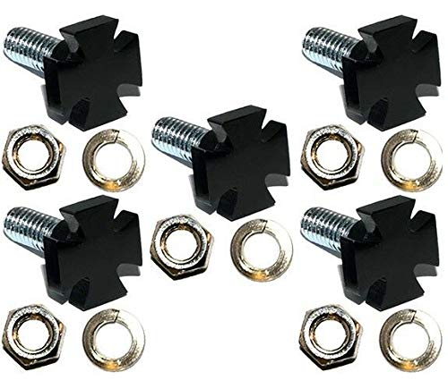 5 Vivid Black - Maltese Iron Cross - Billet Aluminum Bolts for Motorcycle, Motorbike, Bike, Motor Cycle Windshield The Best Accessories for Cars and Motorcycles by Billion_Store