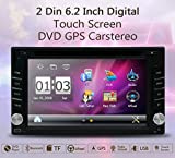 "Upgarde Version With Camera ! 6.2"" Double 2 DIN Car DVD CD Video Player Bluetooth GPS Navigation Digital Touch Screen Car Stereo Radio Car PC 800MHZ CPU !!!"