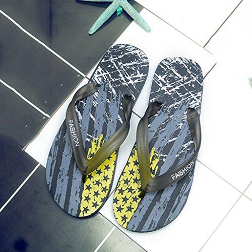 Sandalias Coreana Verano Chanclas uk6 10 Tamaño Zapatillas Pisos Hombres Los Playa Versión La 5 Antideslizantes cn40 De Eu39 color Casuales WFSW1cqy