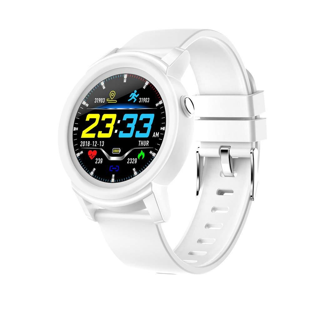 NDGDA,DK02 Smart Watch Heart Rate Sleep Monitor Smart Health Fitness Tracker Bracelet (White)