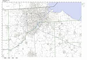 Amazon com: Lucas County, Ohio OH ZIP Code Map Not Laminated
