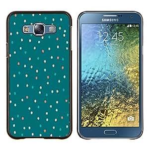 Stuss Case / Funda Carcasa protectora - Árbol de navidad del trullo invierno enciende verde - Samsung Galaxy E7 E700
