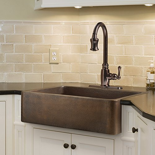 drop in farmhouse kitchen sink farmhouse apron front handmade copper kitchen sink 8833