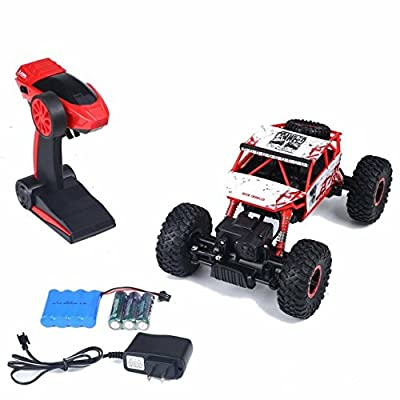 SZJJX RC Rock Off-Road Vehicle 2.4Ghz 4WD High Speed 1:18 Racing Cars RC Cars Remote Radio Control Cars Electric Rock Crawler Electric Buggy Hobby Car Fast Race Crawler Truck