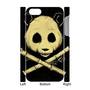 Fashion Design 3D Custom Phone Case for Iphone 4,4S - The Jolly Panda DIY Cover Case JZQ-907341