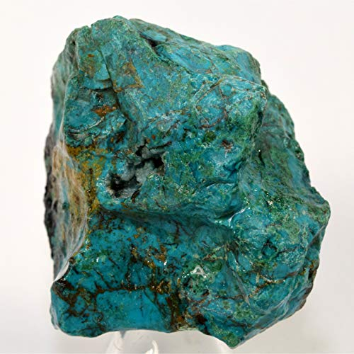 180g Chrysocolla Rough w/Malachite & Cuprite Natural Chalcedony Crystal Cabochon Mineral Stone Cab Rock for Carving - Peru