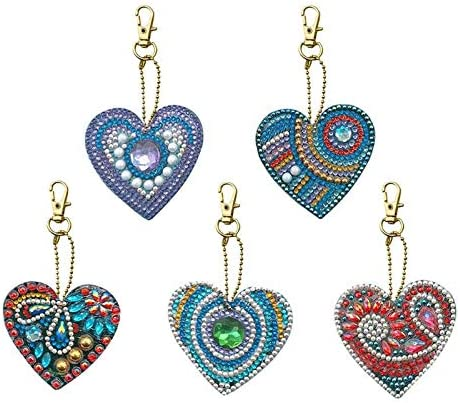 5pcs DIY jewelry Special Shaped Full Drill Diamond Painting Keychain Kits