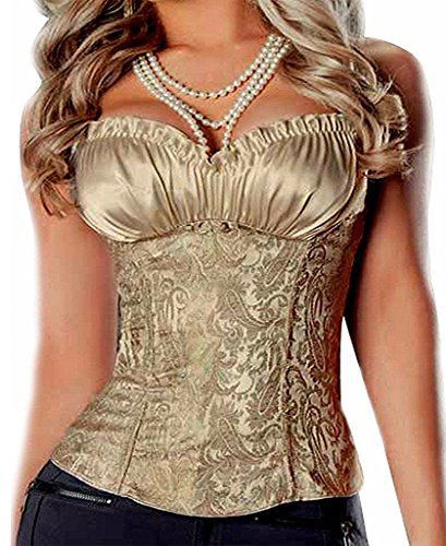 SAYFUT Women's Princess Creamy Lvory Renaissance Overbust Corset Top Body (Best Sayfut Bustiers)