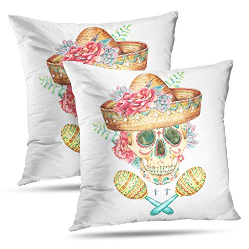 LALILO Set of 2 Throw Pillow CoversSilhouettes Mountains