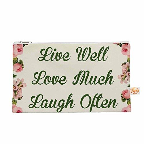 Kess eigene NL Designs Live, Love, Laugh Floral Typografie Alles Tasche, 21,3x 10,2cm (nl1011aep03)