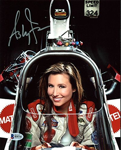 Ashley Force NHRA Drag Racing Authentic Signed 8X10 Photo BAS #B50742
