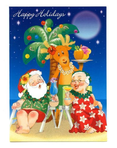 Holiday Happy Hour Hawaiian Christmas Cards / Box of 12