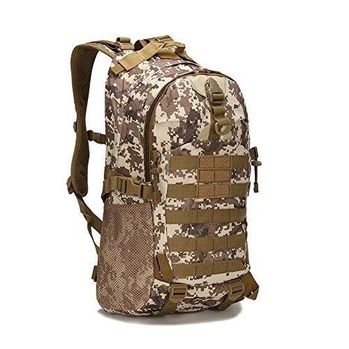 Espeedy Hombres mujeres al aire libre ejército militar mochila táctica trekking mochilas de viaje deporte camping senderismo trekking bolsa de camuflaje #10