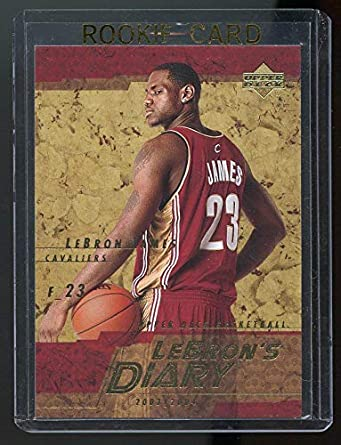2003 04 Upper Deck Lebron S Diary Lebron James Lj9 Rookie Card Mint Condition Ships In Brand New Holder At Amazon S Sports Collectibles Store