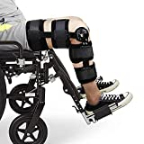 Hinged Knee Support Brace Dual Hinges and Adjustable Cross Straps Helps Stabilized Knee for Arthritic/ACL/Meniscus Tear/Sports Injuries/Walking Running
