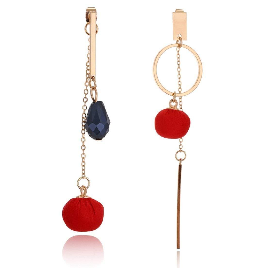 Tassel Long Earrings Ball Drop Earrings for Girls /& Womens Stylish Party Wear by Glitz