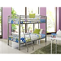 Powell Heavy Metal Pewter Twin Over Twin Bunk Bed