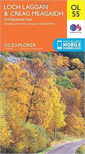 Buy Loch Laggan & Creag Meagaidh, Corrieyairack Pass (OS Explorer ...