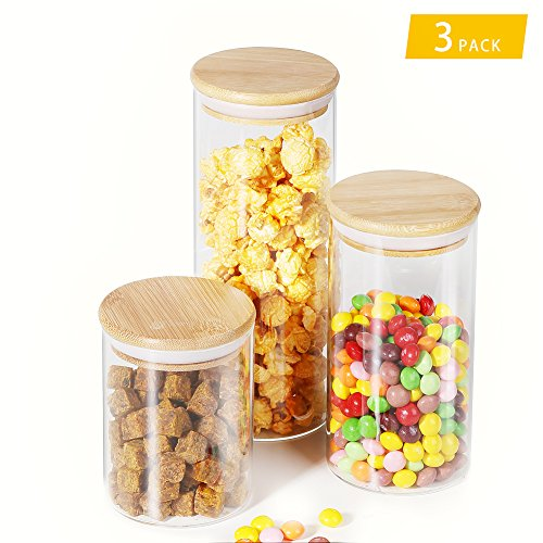 Air-Tight Glass Container Set for Food Storage, Easy Lock L