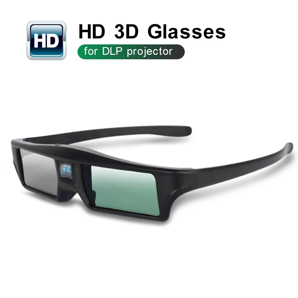 Foluu 3D Glasses DLP Active Shutter 3D Glasses Rechargeable Hi-Brightness Contrast Compatible with All 3D DLP Projectors by Foluu