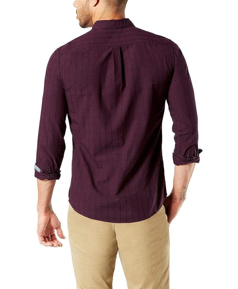 dockers Camisa Alpha Laundered Morado: Amazon.es: Ropa y accesorios