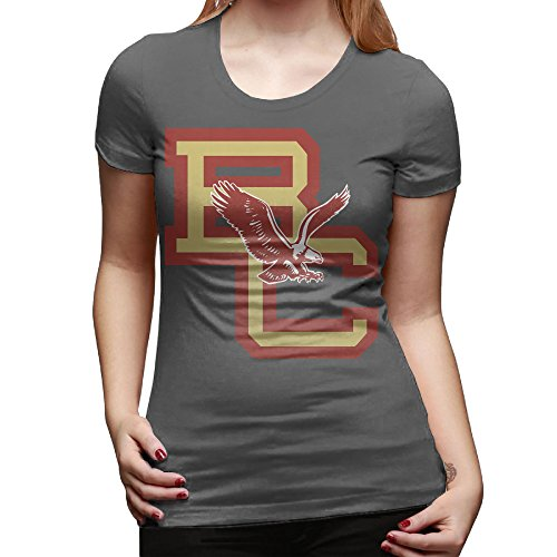 (GUC Women's Fashion T-shirt - Boston College DeepHeather M)