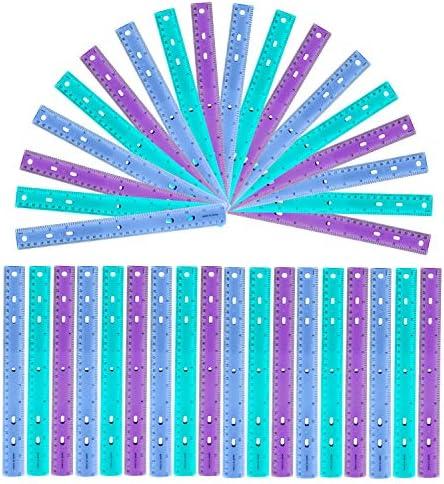 Regla (Pack de 36) - Reglas de Colores Transparentes de 30cm ...