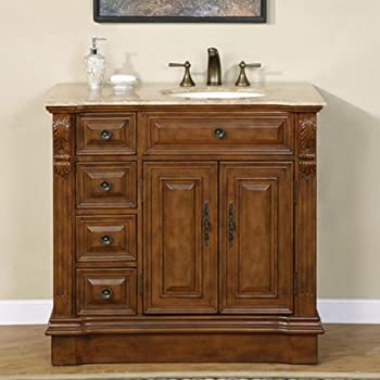 38 Quot Single Bathroom Vanity Off Center Right Sink 904