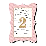 2nd Birthday Girl - Too Much Fun - Unique Alternative Guest Book - Second Birthday Party Signature Mat