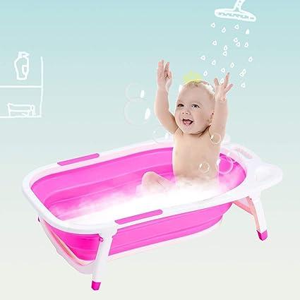 Purple Babyyuga Baby Fold Away Bath Travel Folding Bathtub Anti Slip