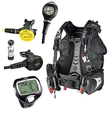 Mares Scuba Package WITH NEMO WIDE, Bolt SLS BCD, Rover 2S, Octo Rover, Mission 1 Pressure Gauge Scuba Dive Set
